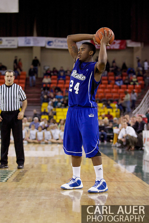 November 27th, 2010:  Anchorage, Alaska - Drake Bulldog Rayvonte Rice (24) looks to pass in the Bulldog 81-82 loss to Weber State in the third place game of the Great Alaska Shootout.