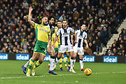 Norwich City striker (on loan from Sheffield Wednesday) Jordan Rhodes (11)  scores a goal from open play 1-1 during the EFL Sky Bet Championship match between West Bromwich Albion and Norwich City at The Hawthorns, West Bromwich, England on 12 January 2019.