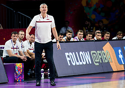 Ainars Bagatskis, head coach of Latvia during basketball match between National Teams of Latvia and Montenegro at Day 11 in Round of 16 of the FIBA EuroBasket 2017 at Sinan Erdem Dome in Istanbul, Turkey on September 10, 2017. Photo by Vid Ponikvar / Sportida