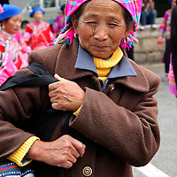 Asia, China, Kunming. .One of the many ethnic minority peoples of southern China.