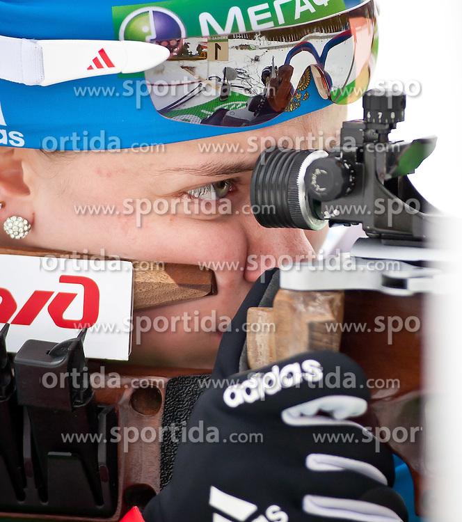 "19.01.2012, Südtirol Arena, Antholz, ITA, E.ON IBU Weltcup, 6. Biathlon, Antholz, Sprint Damen, im Bild Olga Vilukhina (RUS) // Olga Vilukhina (RUS) during Sprint Women E.ON IBU World Cup 6th, ""South Tyrol Arena"", Antholz-Anterselva, Italy on 2012/01/19, EXPA Pictures © 2012, PhotoCredit: EXPA/ Juergen Feichter"