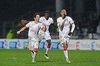 JOIE DE MONACO - Bernardo SILVA / FABINHO - 17.12.2014 - Lyon / Monaco - Coupe de la ligue -<br /> Photo : Jean Paul Thomas / Icon Sport