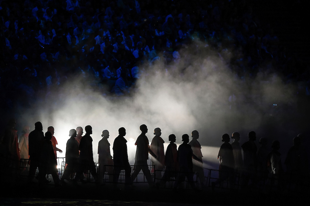 Dancers performed during the Opening Ceremonies of the 2016 Summer Olympics Games in Rio de Janeiro, Brazil.