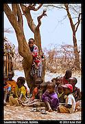 Samburu Children <br /> Outside Samburu National Reserve, Kenya<br /> September 2012