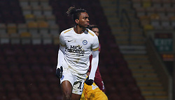 Ivan Toney of Peterborough United celebrates his second goal of the game - Mandatory by-line: Joe Dent/JMP - 11/12/2018 - FOOTBALL - Northern Commercials Stadium - Bradford, England - Bradford City v Peterborough United - Emirates FA Cup second round proper