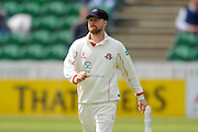 Lancashire's Karl Brown during the Specsavers County Champ Div 1 match between Somerset County Cricket Club and Lancashire County Cricket Club at the County Ground, Taunton, United Kingdom on 3 May 2016. Photo by Graham Hunt.