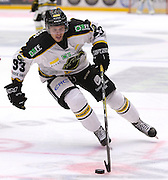 Markus Søberg of Stavanger Oilers in action v Lillehammer during the GET-ligaen match between Stavanger Oilers and Lillehammer at DNB Arena, Stavanger , Norway on 22 September 2016. Photo by Andrew Halseid-Budd.