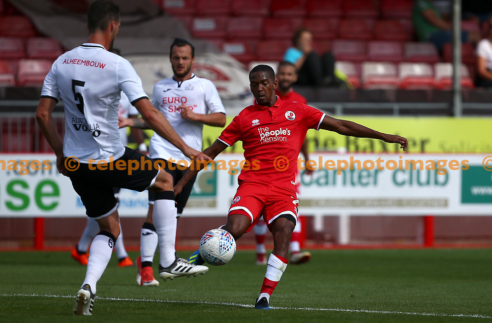 Crawley's Lewis Young during the pre season friendly between Crawley Town and KSV Roeselare at The Broadfield Stadium, Crawley , UK. 28 July 2018.