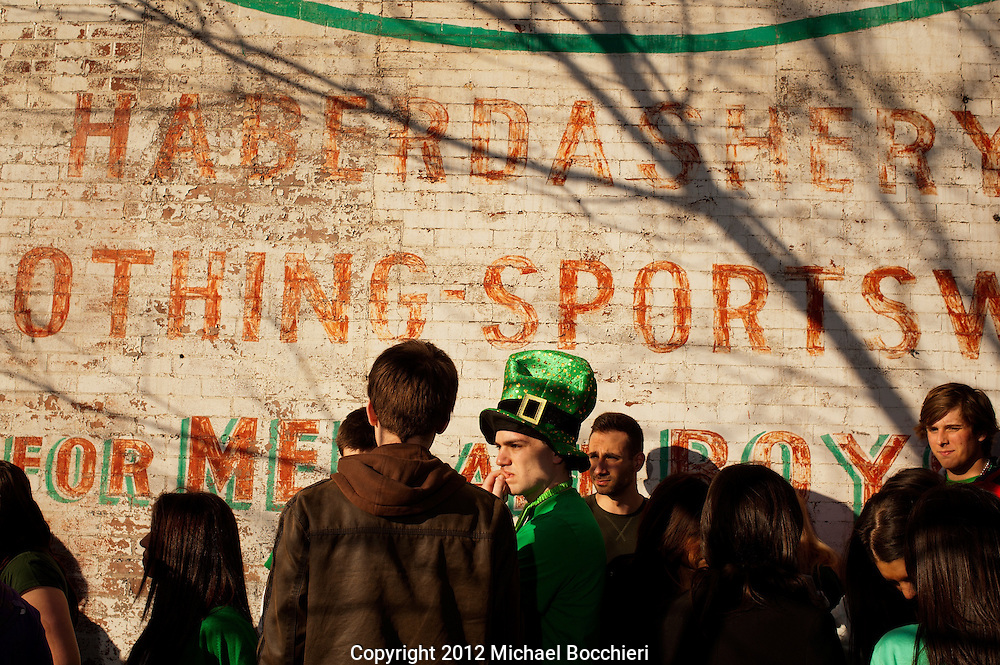 HOBOKEN, NJ - MARCH 03:  People attend the Lepre-Con event as part of St. Patrick's Day festivites March 03, 2012 in Hoboken, New Jersey. Following the city's cancelation of the annual St. Patrick's Day Parade organizers held a city-wide drinking event that attracted thousands to the area.  (Photo by Michael Bocchieri/Bocchieri Archive)