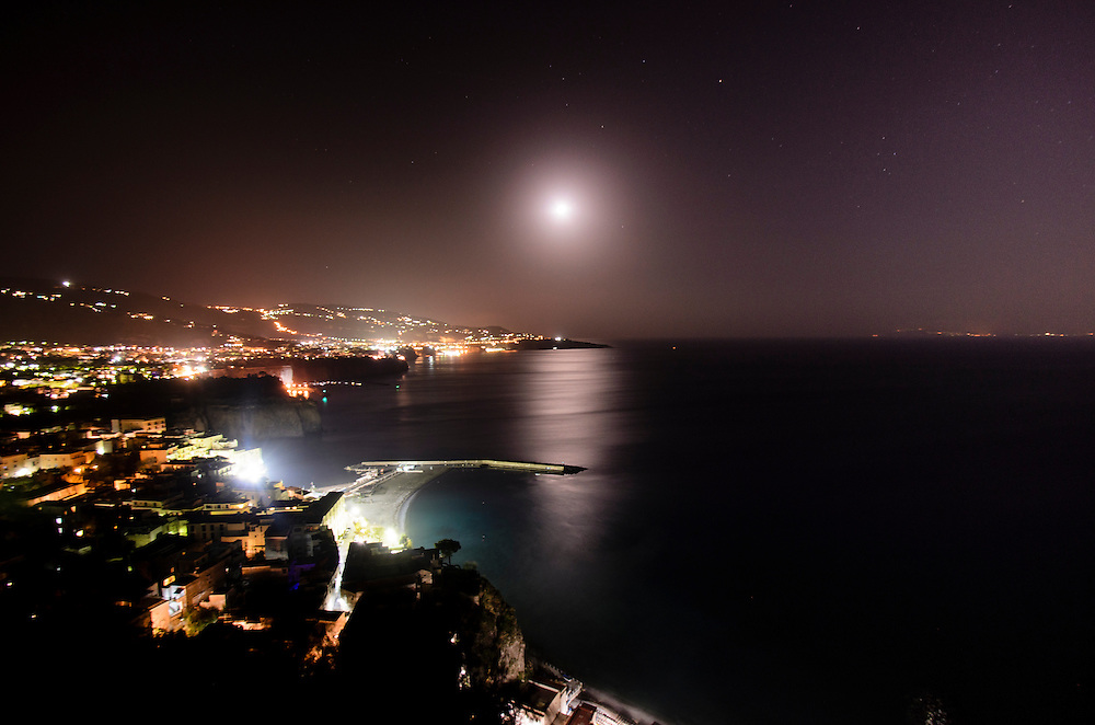 Moonrise over Sorrento, Italy