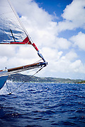 Atrevida sailing in the Antigua Classic Yacht Regatta, Old Road Race.