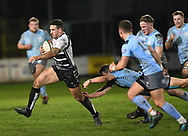Dafydd Lockyer of Pontypridd<br /> <br /> Photographer Mike Jones/Replay Images<br /> <br /> Principality Premiership - Neath v Pontypridd - Friday 16th March 2018 - The Gnoll Neath<br /> <br /> World Copyright &copy; Replay Images . All rights reserved. info@replayimages.co.uk - http://replayimages.co.uk