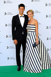 Novak Djokovic Foundation - London Gala Dinner<br /> Novak Djokovic with Jelena Ristic attends the inaugural London fundraiser in aid of tennis champion's foundation raising funds for vulnerable and disadvantaged children, especially in his native Serbia. Takes place day after men's Wimbledon final. Roundhouse, Chalk Farm Road, London, United Kingdom<br /> Monday, 8th July 2013<br /> Picture by Chris Joseph / i-Images