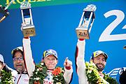Mike Conway, Jose Maria Lopez<br /> TOYOTA GAZOO  Racing. <br /> Le Mans 24 Hours Race, 11th to 17th June 2018<br /> Circuit de la Sarthe, Le Mans, France.