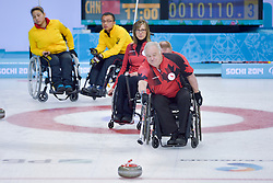 Jim Armstrong, Sonja Gaudet, Wheelchair Curling Semi Finals at the 2014 Sochi Winter Paralympic Games, Russia