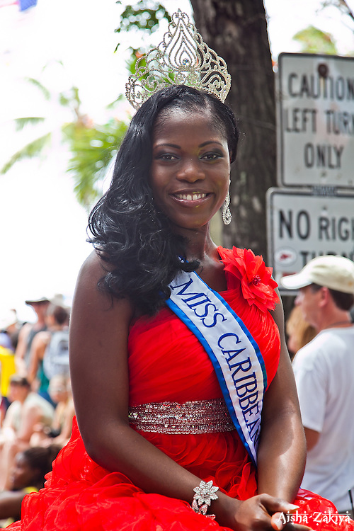 Miss Caribbean 2012 Temisha Libert.  St. John Carnival 2012 © Aisha-Zakiya Boyd