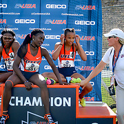 UTEP' Women capture the gold medal in 4X100 at the 2017 CUSA Track and field meet, Finals Kidd Field El Paso Texas