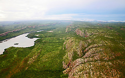 Aerial view of the McLarty Range, Talbot Bay, on the Kimberley coast.