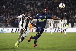 March 8, 2019 - Turin, Italy - Juventus forward Moise Kean (18) in action during the Serie A football match n.27 JUVENTUS - UDINESE on 08/03/2019 at the Allianz Stadium in Turin, Italy. (Credit Image: © Matteo Bottanelli/NurPhoto via ZUMA Press)