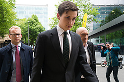 &copy; Licensed to London News Pictures. 28/04/2017. London, UK. Conservative party aide SAMUEL ARMSTRONG appears at Southwark Crown Court on two alleged charges of rape. The alleged attack is said to have taken place in the Houses of Parliament Friday 14th October 2017.  Armstrong was working as an aide to South Thanet MP Criag Mackinlay.<br /> <br /> <br /> Photo credit: Ray Tang/LNP