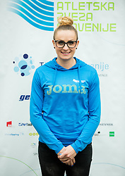 Sabina Veit during press conference when Slovenian athletes and their coaches sign contracts with Athletic federation of Slovenia for year 2016, on February 25, 2016 in AZS, Ljubljana, Slovenia. Photo by Vid Ponikvar / Sportida