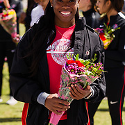 23 March 2018: San Diego State senior Ashley Henderson is recognized during a seniors ceremony at  the final day of the 43rd annual Aztec Invitational.<br /> More game action at sdsuaztecphotos.com