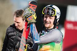 WINDINGSTAD Rasmus of Norway celebrates during the Audi FIS Alpine Ski World Cup Men's Giant Slalom 58th Vitranc Cup 2019 on March 9, 2019 in Podkoren, Kranjska Gora, Slovenia. Photo by Peter Podobnik / Sportida