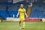 AFC Wimbledon Midfielder, Scott Wagstaff (7) wants the ball during the Carabao Cup match between Portsmouth and AFC Wimbledon at Fratton Park, Portsmouth, England on 14 August 2018.