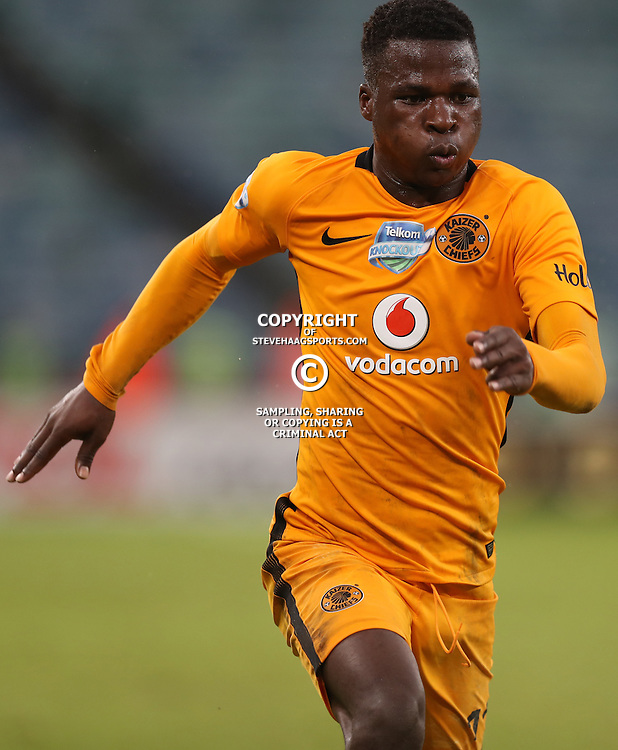 Edmore Chirambadare of Kaizer Chiefs during the Telkom Knockout quarterfinal  match between Kaizer Chiefs and Free State Stars at the Moses Mabhida Stadium , Durban, South Africa.6 November 2016 - (Photo by Steve Haag Kaizer Chiefs)