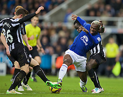 NEWCASTLE-UPON-TYNE, ENGLAND - Sunday, December 28, 2014: Everton's Arouna Kone in action against Newcastle United during the Premier League match at St. James' Park. (Pic by David Rawcliffe/Propaganda)