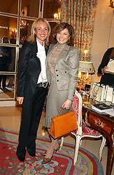 Left to right, AMANDA ELIASCH and DORIT MOUSSAIEFF wife of the President of Iceland at a ladies lunch in aid of the NSPCC held at The Ritz, Piccadilly, London on 7th March 2006.<br />