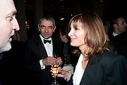 Rowan Atkinson; Sunetra Sastry, The Laurence Olivier Awards,The Grosvenor House Hotel, Park Lane. London.   21 March  2010