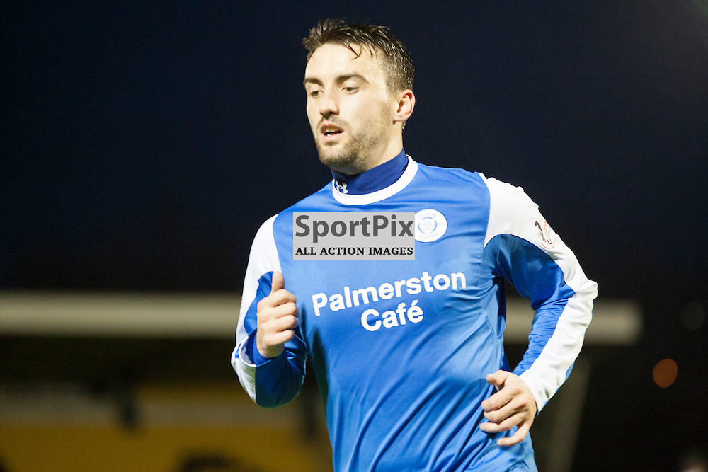 Livingston v Queen of the South, Scottish Championship, 2 January 2016, Mark Millar (Queen of the South, 8) during the Livingston v Queen of the South Scottish Championship match played at the Toni Macaroni Arena, © Chris Johnston | SportPix.org.uk