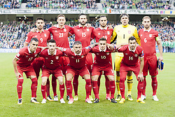 September 5, 2017 - Dublin, Ireland - The Serbian national football team poses for photo during the FIFA World Cup 2018 Qualifying Round match between Republic of Ireland and Serbia at Aviva Stadium in Dublin, Ireland on September 5, 2017  (Credit Image: © Andrew Surma/NurPhoto via ZUMA Press)