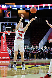 NORMAL, IL - January 06: Paige Saylor during a college women's basketball game between the ISU Redbirds and the Drake Bulldogs on January 06 2019 at Redbird Arena in Normal, IL. (Photo by Alan Look)