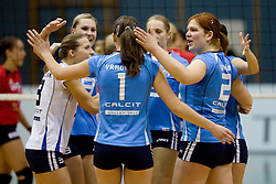 Team Calcit Volleyball during volleyball match between Calcit Volleyball and A. Linz-Steg in Mevza league on October 23, 2010 at Sport Halli, Kamnik, Slovenia. (Photo By Matic Klansek Velej / Sportida.com)