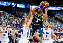 Mikko Koivisto of Finland vs Anthony Randolph of Slovenia during basketball match between National Teams of Finland and Slovenia at Day 3 of the FIBA EuroBasket 2017 at Hartwall Arena in Helsinki, Finland on September 2, 2017. Photo by Vid Ponikvar / Sportida
