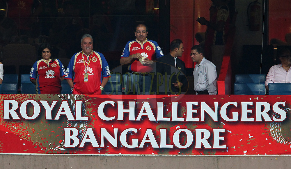 Dr Vijay Mallya during match 24 of the Pepsi Indian Premier League Season 2014 between the Royal Challengers Bangalore and the Sunrisers Hyderabad held at the M. Chinnaswamy Stadium, Bangalore, India on the 4th May  2014<br /> <br /> Photo by Ron Gaunt / IPL / SPORTZPICS<br /> <br /> <br /> <br /> Image use subject to terms and conditions which can be found here:  http://sportzpics.photoshelter.com/gallery/Pepsi-IPL-Image-terms-and-conditions/G00004VW1IVJ.gB0/C0000TScjhBM6ikg
