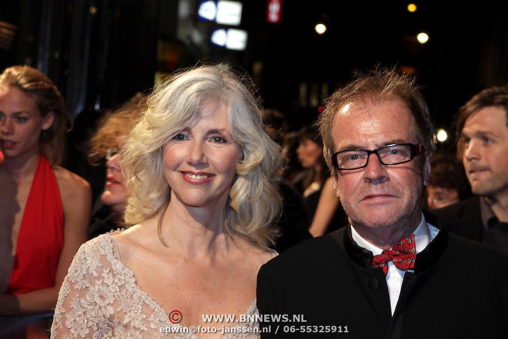 NLD/Amsterdam/20081013 - Premiere Bride Flight, Marieke van der Pol en regisseur Ben Sombogaart