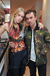 MARY CHARTERIS and ROBBIE FURZE at the Mother of Pearl Launch at The Other Criteria, 36 New Bond Street, London W1 on 12th April 2011.