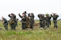 Members of the Northern World War Two Association members portraying surviving combined German forces surrender at the end of the Allied attack Castle Saturday 29th May 2010 .Images © Paul David Drabble.