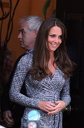 The Duchess of Cambridge leaves Hope House in South London, Tuesday February 19, 2013,<br /> United Kingdom<br /> Picture by Mike Webster / i-Images