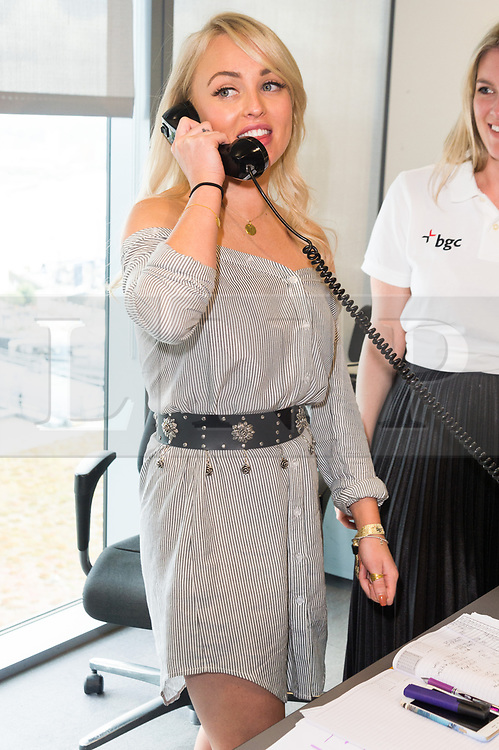 © Licensed to London News Pictures. 11/09/2017. JORGIE PORTER takes part in the on the annual BGC Partners Charity Day in commemoration of its 658 friends and colleagues and 61 Eurobroker employees lost in the World Trade Center attacks on 9/11. PIcture Credit: Tang/LNP