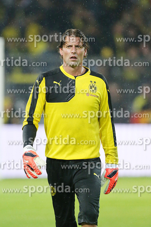 27.08.2015, Signal Iduna Park, Dortmund, GER, UEFA Euro Qualifikation, Borussia Dortmund vs Odd Grenland, Playoff, R&uuml;ckspiel, im Bild Roman Weidenfeller (Dortmund) // during UEFA Europa League Playoff 2nd Leg match between Borussia Dortmund and Odd Grenland at Signal Iduna Park in Dortmund, Germany on 2015/08/27. EXPA Pictures &copy; 2015, PhotoCredit: EXPA/ Eibner-Pressefoto/ Hommes<br /> <br /> *****ATTENTION - OUT of GER*****