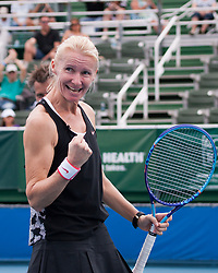 Nov. 21, 2015 - Delray Beach, Florida, US - Jana Novotna, International Tennis Hall of Famer and Tennis Coach, in action on court at the 26th Annual Chris Evert/Raymond James Pro-Celebrity Tennis Classic, at the Delray Beach Tennis Center in Florida. Chris Evert Charities has raised almost $ 22 million for Florida's most at-risk children. (Credit Image: © Arnold Drapkin via ZUMA Wire)