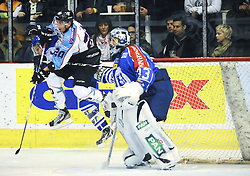 30.10.2011, Dom Sportova, Zagreb, CRO, EBEL, KHL MEDVESCAK ZAGREB vs SAPA Fahervar AV19, im Bild Player Name during EBEL Eishockey game between Medvescak KHL Zagreb and SAPA Fahervar AV19 at Dom Sportova in Zagreb, Croatia on 2011/10/30EXPA Pictures © 2011, PhotoCredit: EXPA/ nph/ Pixsell/ Daniel Kasap +++++ ATTENTION - OUT OF GERMANY/(GER), CROATIA/(CRO) +++++