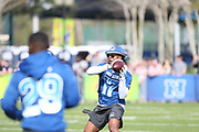 Jan 23, 2019; Kissimmee, FL, USA;  Green Bay Packers wide receiver Davante Adams (17) catches a pass at the NFC team practice at the 2019 Pro Bowl at ESPN Wide World of Sports Complex. (Kim Hukari/Image of Sport)