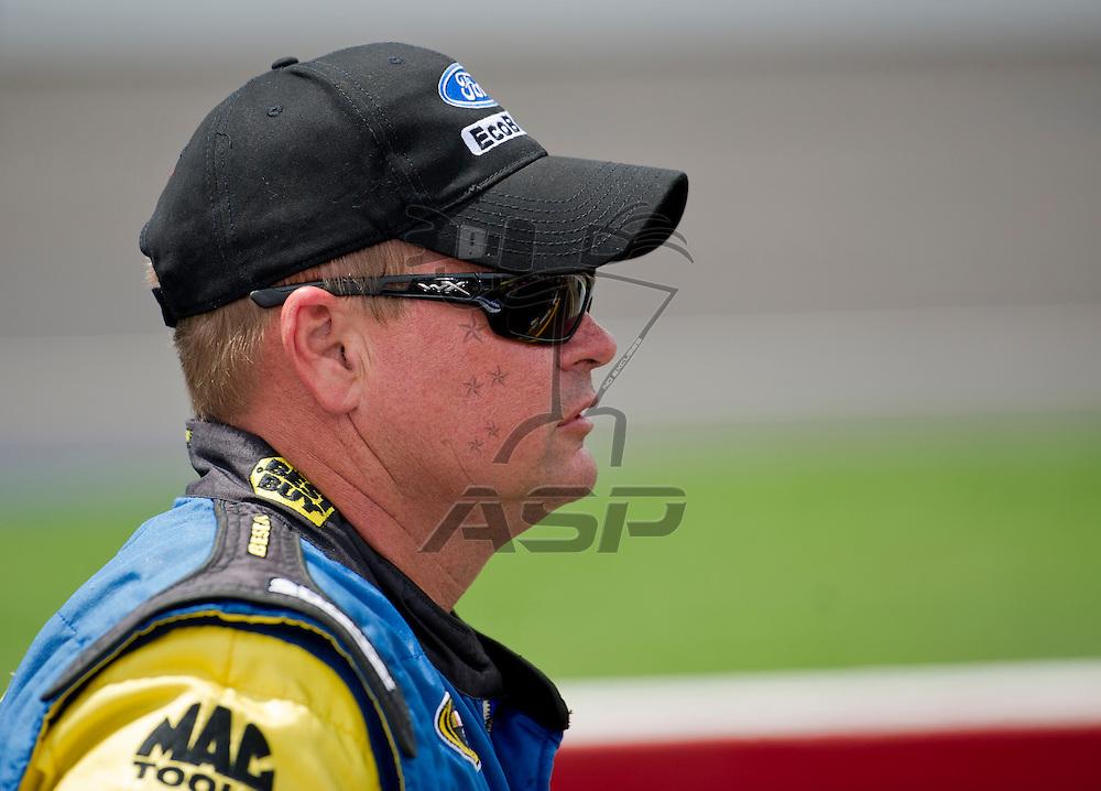 Brooklyn, MI - JUN 17, 2012: Matt Kenseth (17) during the Sprint Cup Quicken Loans 400 race at Michigan International Speedway in Brooklyn, MI.