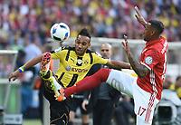 v.l. Pierre-Emerick Aubameyang , Jerome Boateng (Bayern)<br /> 21.05.2016, Fussball, DFB-Pokal, Finale 2016, FC Bayern München - Borussia Dortmund<br /> Norway only