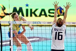 27-09-2015 NED: Volleyball European Championship Slovenie - Italie, Apeldoorn<br /> Italie wint met 3-0 van Slovenie / Iza Mlakar #9<br /> Photo by Ronald Hoogendoorn / Sportida